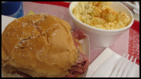 Beef on Weck with Potato Salad at Charlie the Butcher
