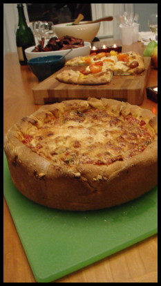 New Years Pizza Party Deep Dish Pizza