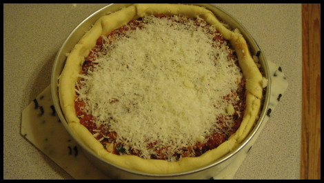 Chicago Style Stuffed Deep Dish Pizza 4