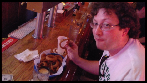 Matt vs Food - Onion Rings at Stella Blues