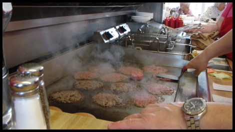 Matt vs Food - Burgers On The Griddle At Carls Drive In