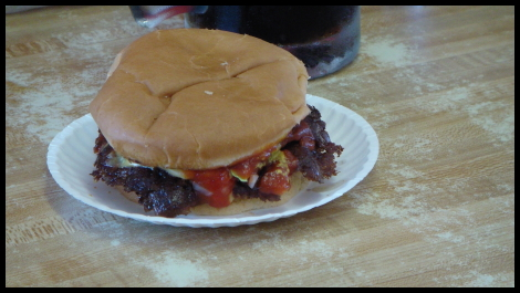 Matt vs Food - Double Cheeseburger From Carl's Drive In
